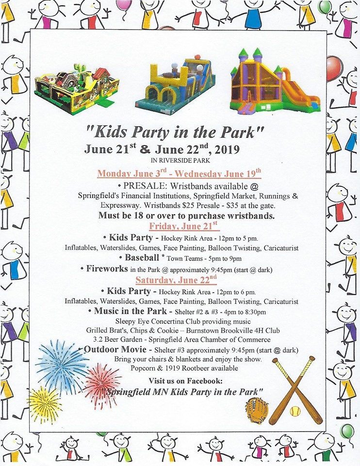 Kids Party in the Park - Springfield Minnesota Chamber of